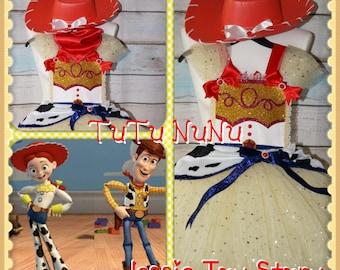 Handmade Girls Jessie Toy Story Tutu Dress