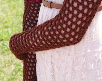 Long Lacy Arm Warmer Gloves