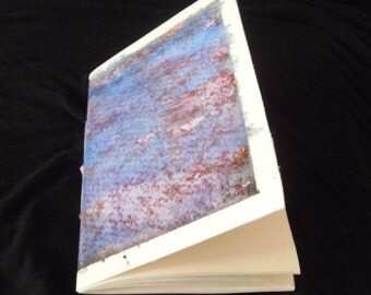 Blue granite sketchbook