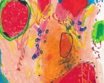Trash; Oil Pastel on Paper