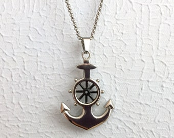 Anchor necklace, Anchor jewelry,  Sea necklace, Nautical pendant , Beach jewelry, Gift for him , Christmas gift, Sailor necklace