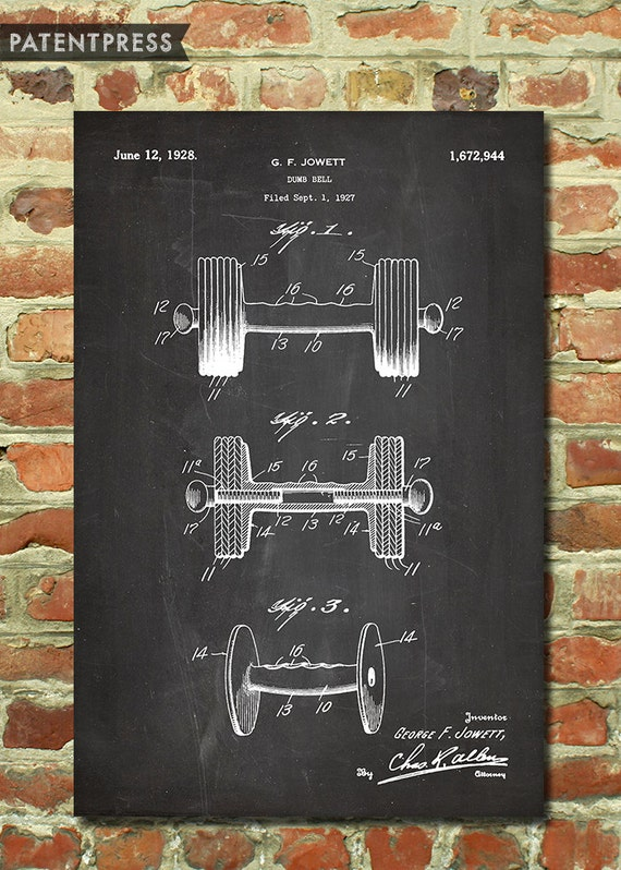 Body Building Weightlifting Gym Decor Home Gym Art Weight