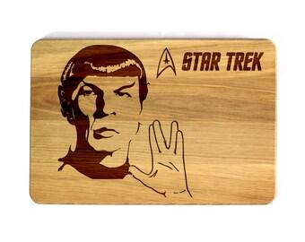 Star Trek Cutting Board Leonard Nimoy Wooden Cutting Board Birthday Present Housewarming gift Anniversary gifts Gift foe him