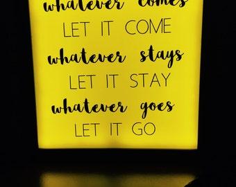 neon light sign, light box, custom neon sign, wall decor, night light, inspirational quote, light up sign, zen decor, yoga decor, wall art,