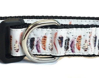 Wild Feathers Nylon Dog Collar