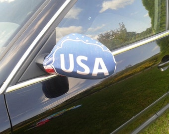 Car accessories USA side mirror cover United States car decoration Car decor for man Mirror covers Her car accessory Birthday gift Set of 2