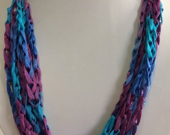 Adjustable Crocheted Yarn Necklace