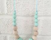 RESERVED for Julie***Boho 3 sensory teething/ nursing necklace