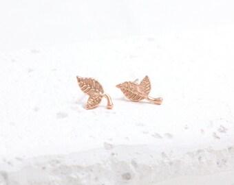 Small Leaves Leaf Stud Earrings