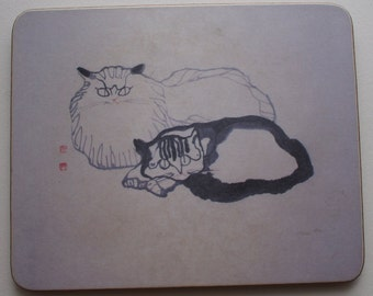 Lady Clare Cat Coaster with Japanese Made in England I