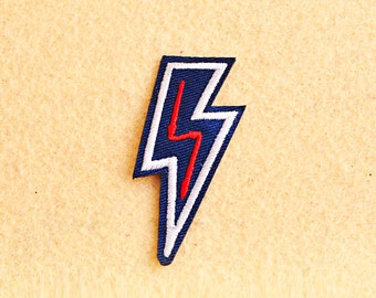 Thunder Patch - Iron on patch -Sew On patch - Embroidered Patch (Size 2.7cm x 6.5cm)