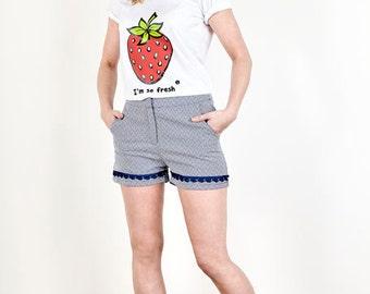 Very berry Strawberry red shirt