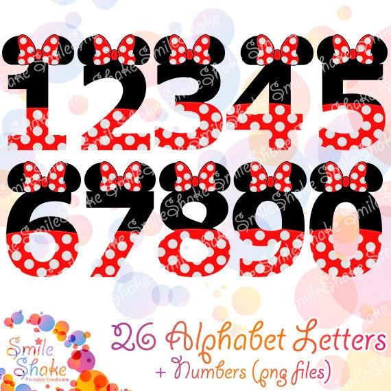 Minnie Mouse Printable Alphabet Digital Png Jpg Letters