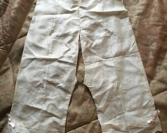 "Victorian Edwardian open bloomers knickers new old stock 29"" waist"