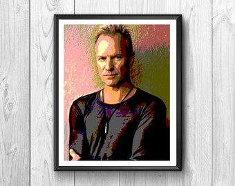 Sting posters famous rock singer