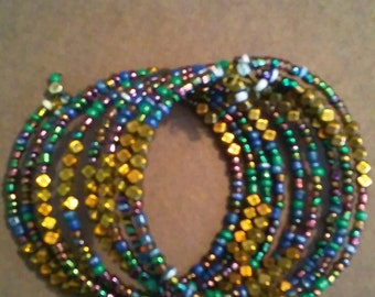 Multi Color beaded wrap bracelet