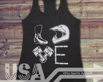 Love Motocross Customizable Tank Top