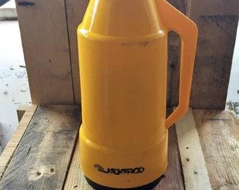 Vintage Jackeroo Yellow Thermos Jug / 1.5 litre / 1970s Jug / Camping Jug / Vintage Pitcher