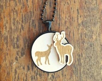 I Moose you Deer necklace