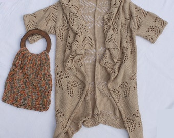 "extraordinary cardigan ""Nobiletta"" with a pretty pattern"