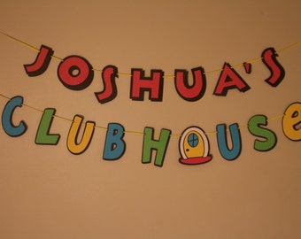Personalized Mickey Mouse Clubhouse Banner