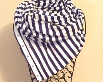 Navy and White Striped Vinyasa