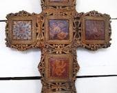LARGE painted ceramic cross