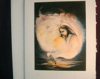 The Trinity print gift set of 5 blank note cards by Carol Alvarado