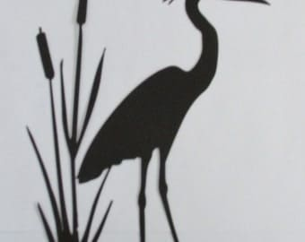 Crane, Metal Art, Wall Hanging, Bird, Wildlife