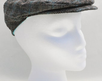 Newsboy Cap, Toddler Newsboy Hat, Baby boy hat, Driver Hat, Plaid Hat, Ring Bearer Hat