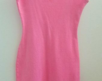 80s Hot Pink Mini Dress