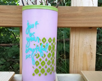 Just Be Your Beautiful Self Vase. Motivation. Positivity. Home Decor. Dorm Room Decor. House Warming Gift