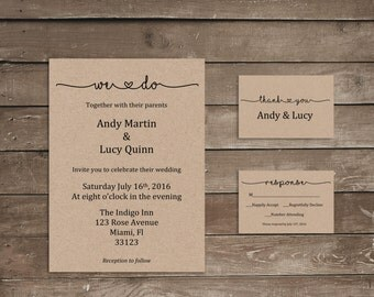 Lucy rose wedding invitations