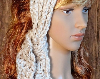 Crocheted, Headband, Hair Band, Neck Warmer, Scarf, Boho Chic Women's Accessories, Teens, Gift, Ready To Ship, Easy Care