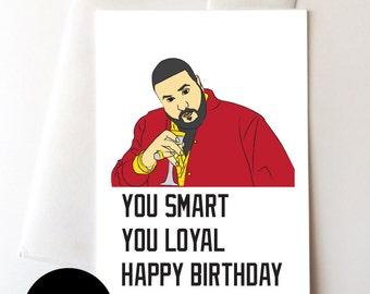 DJ Khaled Digital Download Birthday Card 5.5x8.5