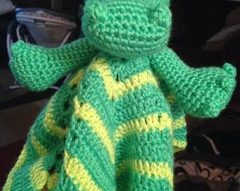 Crocheted alligator lovey