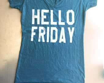 Hello Friday V-Neck Tee