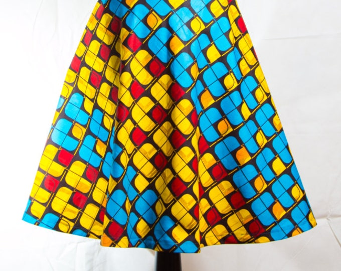 Short African print dress, summer African Print dress, party African print dress, kitenge African Print dress, Ankara short dress