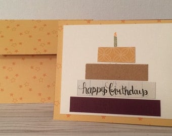 Stripe Happy Birthday Card