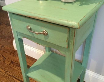Rustic Mint End Table