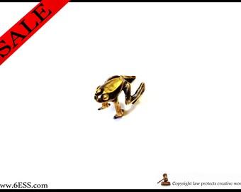 Small Frog Ear Cuff,Frog Earring,Frog Ear Wrap Jewelry,Non-pierced Frog Earring, Amphibian Animal Jewelry,
