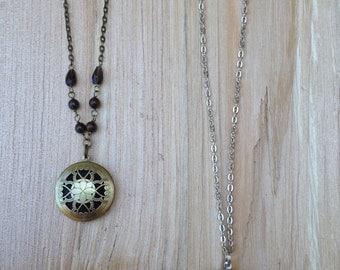 Diffusing Silver Locket Necklace