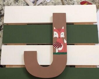 Wood letter art
