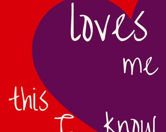 Printable, Jesus Loves Me this I Know, Wall Art, Child's Print