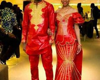 African clothing, African unisex Adult clothing, African print clothing for couple, Couple match African clothing
