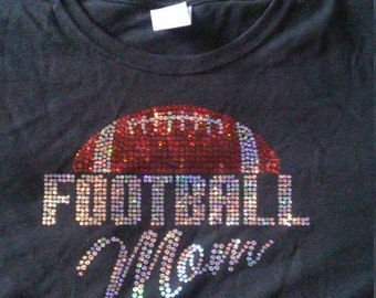 Football Mom Sequin Tshirts