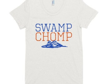 Swamp Chomp Graphic Tee, Fitted Soft Ladies T-shirt, Tigers, Florida, Gators