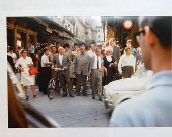 Italian Street Crossing (1965) 8x12 Kodachrome Print