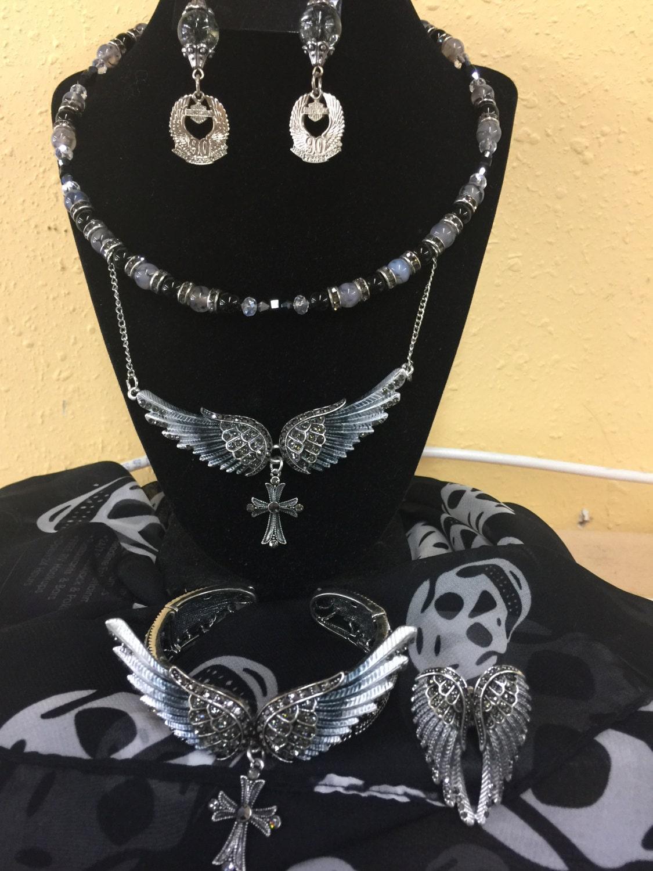 harley davidson earrings womens biker jewelry by wrapyourbones