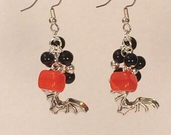 Bat Halloween Cluster Earrings